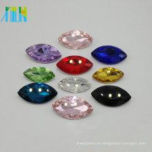 piedra de cristal posterior plana de alta calidad al por mayor sin agujero