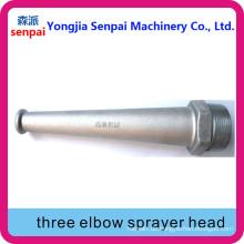 Aluminium-Legierung Drei Ellenbogen-Sprayer Kopf / Kopf von drei Elbow Sprayer