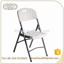HDPE-Klappstuhl der preiswerten Handelsmöbel weißen HDPE mit den eisernen Beinen für Hochzeit