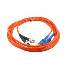 Mm duplex 2 mm sfp amp fibre optique cordon de raccordement, sc / upc à fc / upc cordon de connexion optique