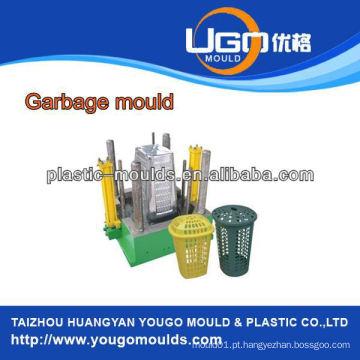Molde de lixo de plástico da indústria Molde de injeção, molde de cesta de lixo de plástico