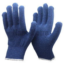 NMSAFETY blue cotton hand gloves price stretch cotton gloves