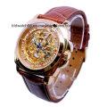 Популярные мужские автоматические механические часы с позолотой