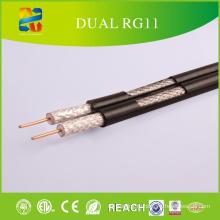 CCTV кабель RG11DM, двойной кабель с Messenger