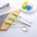 Set de cubiertos de viaje Mango de cerámica Cuchara Tenedor Palillos