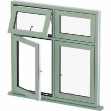 janela de alumínio preto branco janela de alumínio porta e janela preços de vidro no Paquistão