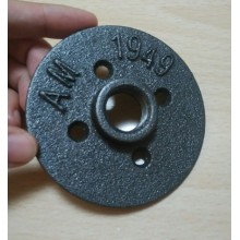 decorated antique malleable iron floor flange for furniture
