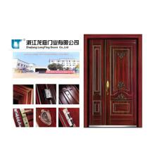 Porte blindée en acier et bois avec certificat CE