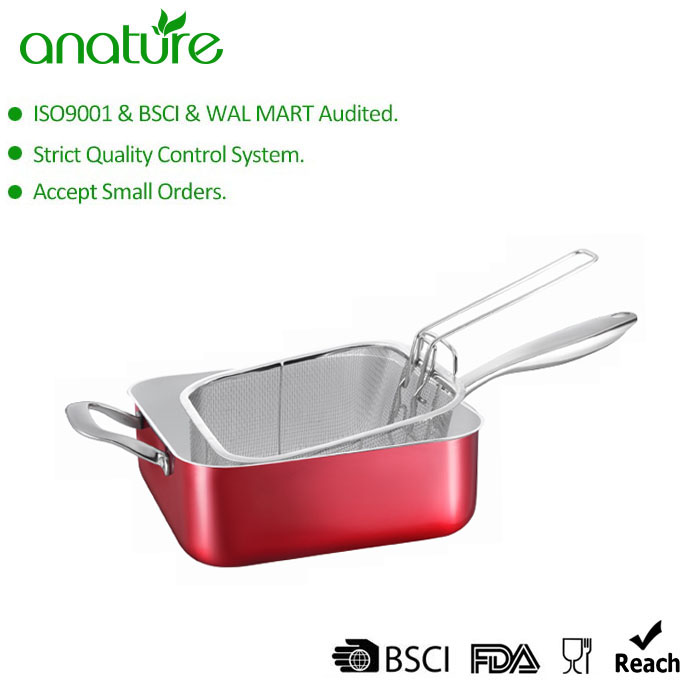 Best Selling Red Nonstick Square Deep Casserole