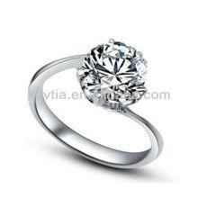 Delicate grande CZ jóias de diamante 925 anéis de prata esterlina