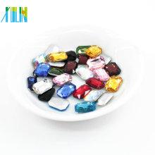 perlas de vidrio con forma de octágono sueltas para accesorios de joyería