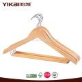 Round barra de bloqueio curvado camisa cabide de madeira
