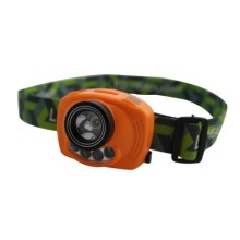 1W+2 Red LED infrared sensor headlamp