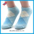 Günstige kundenspezifische Entwurfs-Baumwollfrauen-Boots-Knöchelsocken