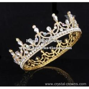 Unique Crystal Full Round Pageant Queen Crowns