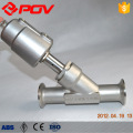 Sanitary clamp seat valve y type pneumatic control valve