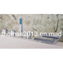 Lujo 5PCS montado cascada cascada grifo / grifo Qh001-15