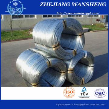 Fil d'acier galvanisé 0,9 mm à 3,15 mm / fil d'armure Fournisseur chinois