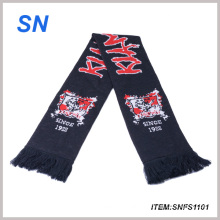 Jacquard 100%Acrylic Knitted Team Scarf Football Scarf Fan Scarf