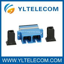 Adaptateur fibre optique monomode SC vers SC pour réseaux de communication de données