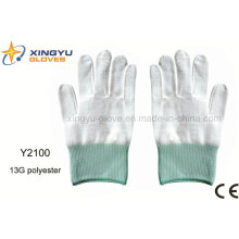 13G Polyester Sicherheits-Arbeitshandschuh (Y2100)