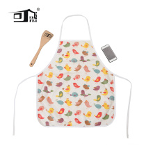 Funny cute logo printed custom cotton kitchen Apron Set child apron