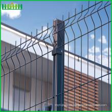 PVC recubierto curvado alambre de malla de alambre soldado
