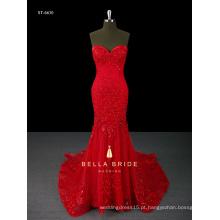 Paillette vestido de noiva sem alças vestido de sereia vestido de noite
