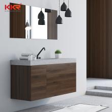 KKR Customized Solid Surface Double Sink Luxury Bathroom Vanity Set