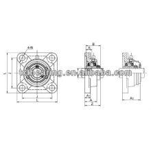 Rolamentos de bloco de almofadas UCF204 de alta precisão