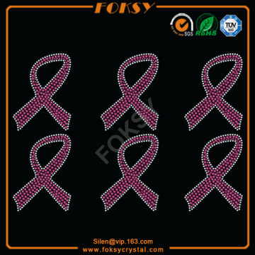 Pink Ribbon wholesale rhinestone transfers