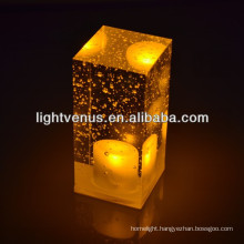 Transparent crystal rechargeable LED Party Table Lamp