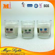 Vela blanca personalizada del hogar de la materia prima respetuosa del medio ambiente con los certificados de clase superior