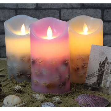 Lilin nyata Flicker Flameless Pillar LED Candle