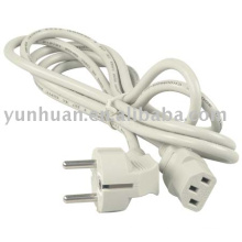 European Power cord - White color cable assembly