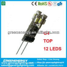 LED g4 12smd 3014 leds top 0.54w marine bulb auto bulb high power engergy saving great qulity