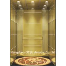 Titanium mirror passenger lift with low cost