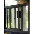 Fenêtre en alliage d'aluminium à revêtement thermique en poudre et verrouillée, fenêtre coulissante en aluminium
