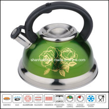 Color Coated Stainless Steel Whistle Kettle Cookware