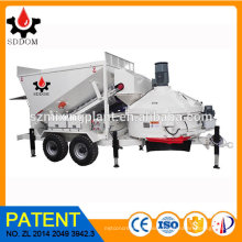 Free Foundation SDDOM Mobile Concrete Batching Plant with CE Concrete Mixing Plant for sale