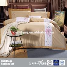 100% Algodão Hotel EMB Logo Bedding Set