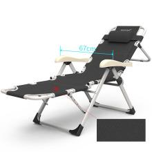 Cadeira de praia por atacado / camping / escritório cadeira dobrável com colchão de algodão de veludo cinza