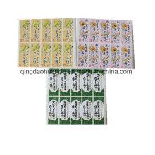 Étiquettes adhésives imprimées en papier et PVC