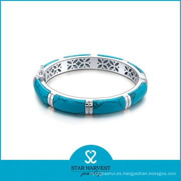 925 brazaletes de plata del anillo de plata populares (B-0004)