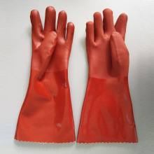 Rust PVC resin Sandy finish Protective gloves