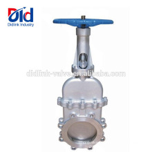 12 Dimension Ductile Iron Italy Kennedy Bidirectional Seal Non Rising Stem Knife Gate Valve Purpose