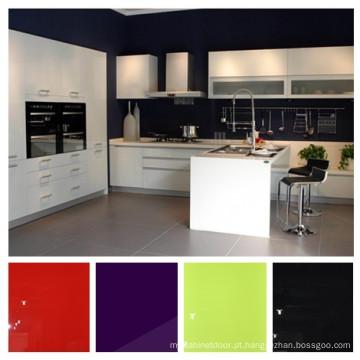 Alto Brilhante UVA Gabinetes de Cozinha, Armário de Cozinha Modular