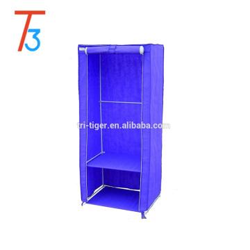 1 armário de guarda-roupa portátil de tecido de organizador de armazenamento de roupas de tecido de porta