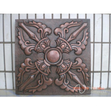 china supplier indoor home decorative relief bronze flower metal wall art sculpture