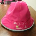 Rosy Red Cartoon PU Rain Hat /Rain Cap/Raincoat for Children